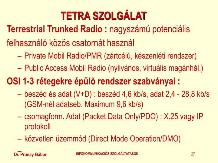 TETRA SZOLGÁLAT