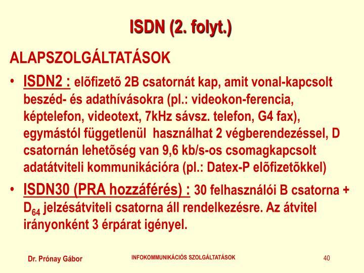 ISDN (2. folyt.)
