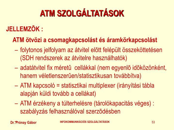 ATM SZOLGÁLTATÁSOK