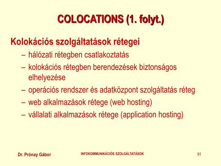 COLOCATIONS (1. folyt.)