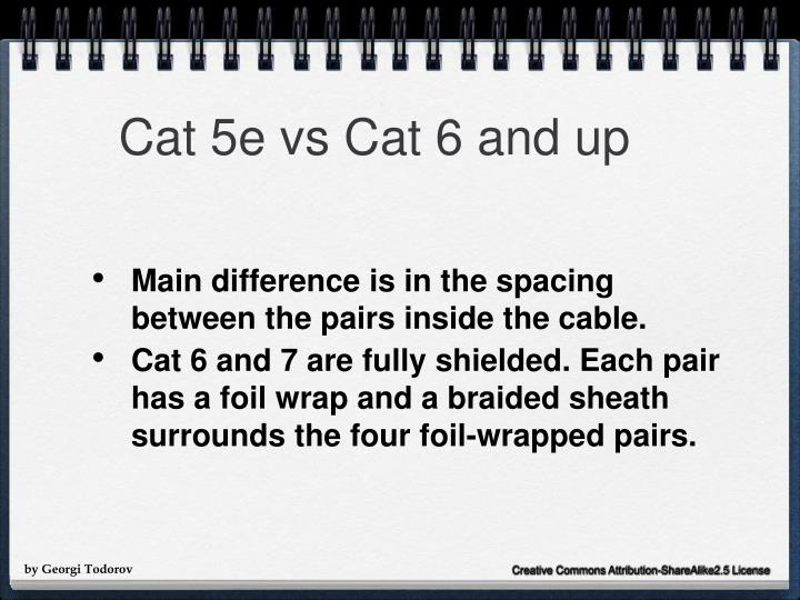 Cat 5e vs Cat 6 and up