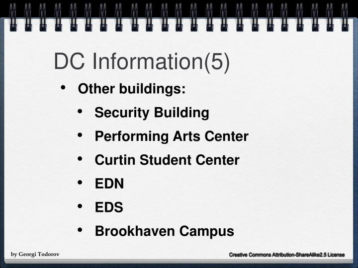 DC Information(5)