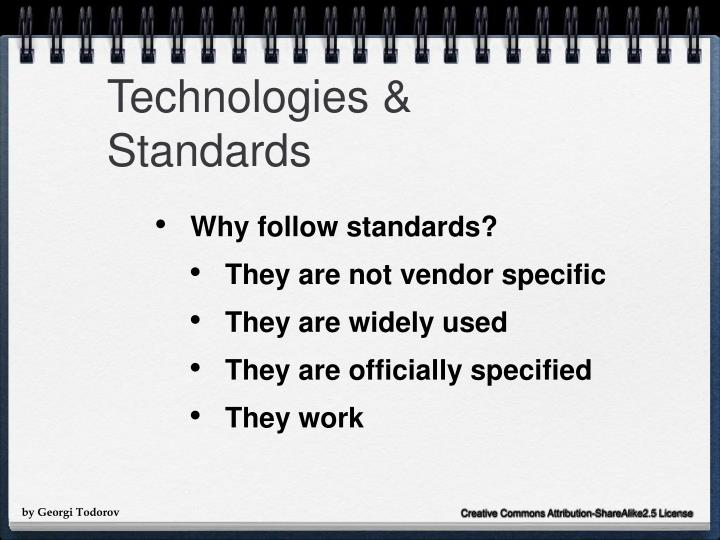 Technologies & Standards