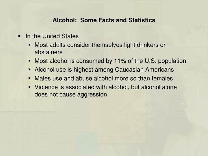 Alcohol:  Some Facts and Statistics