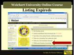 listing expireds