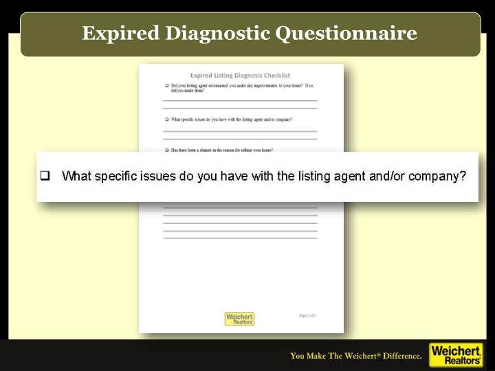 Expired Diagnostic Questionnaire