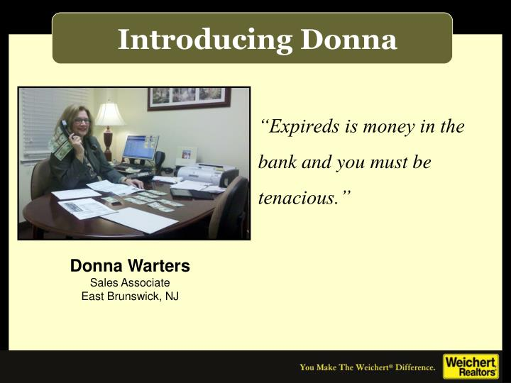 Introducing Donna