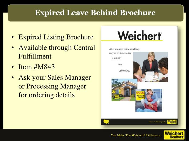 Expired Leave Behind Brochure