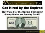stay tuned for the spring campaign jimmy bucks are coming back