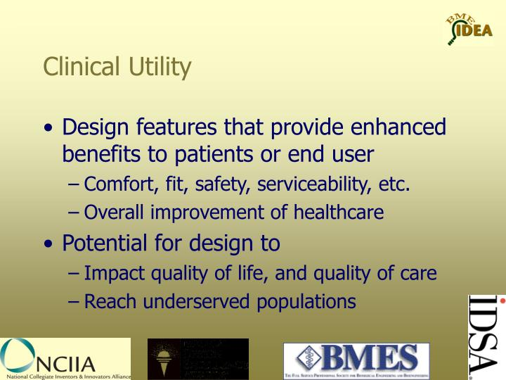 Clinical Utility