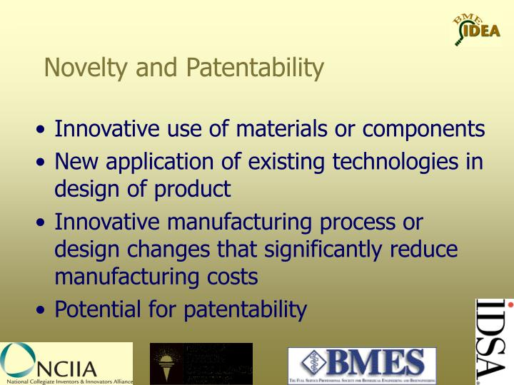 Novelty and Patentability