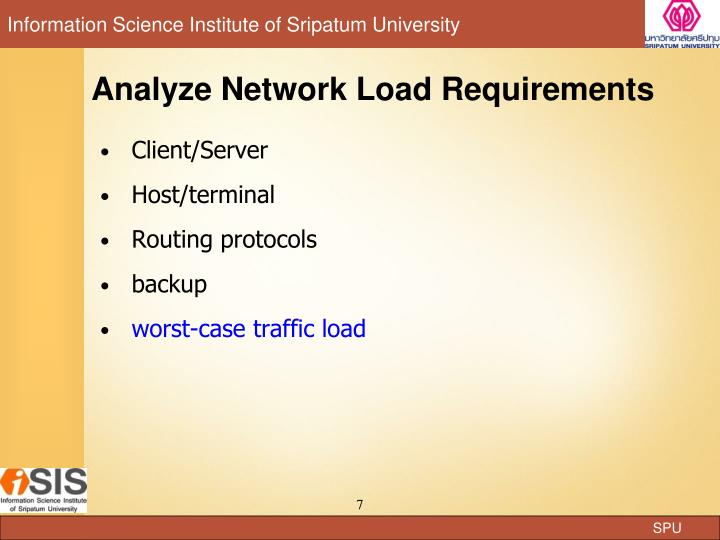 Analyze Network Load Requirements