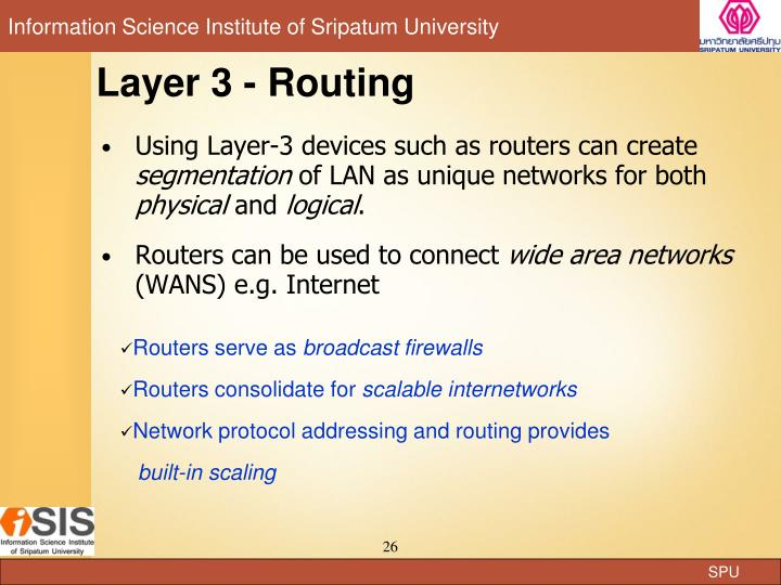 Layer 3 - Routing