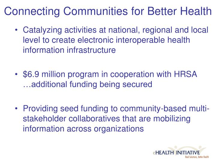 Connecting Communities for Better Health
