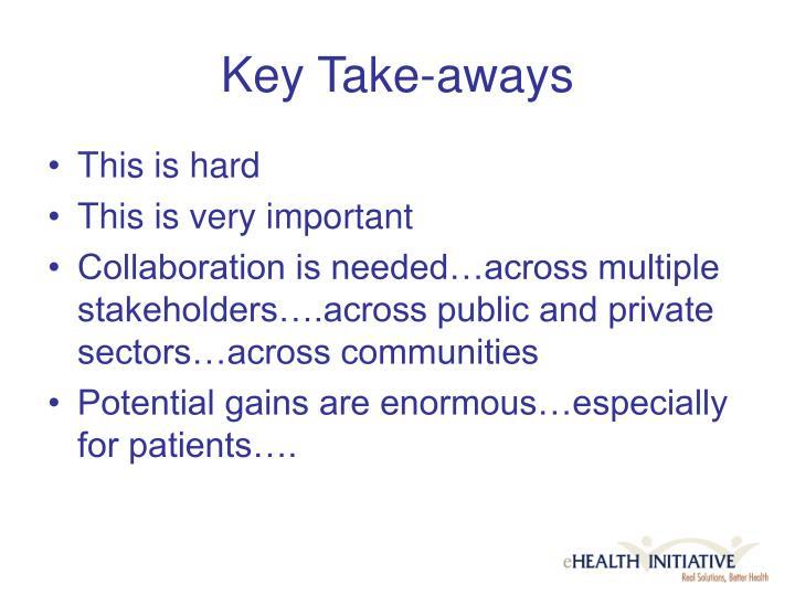 Key Take-aways