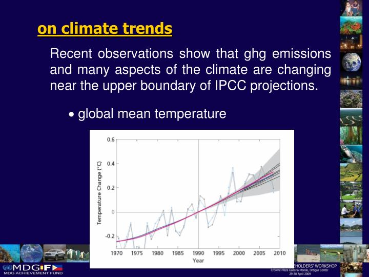 on climate trends