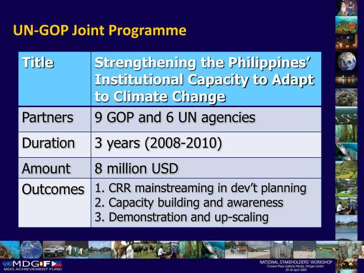 UN-GOP Joint Programme
