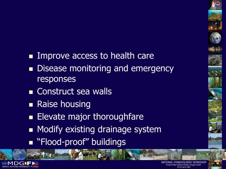 Improve access to health care