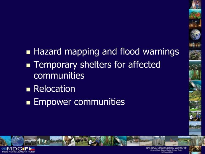 Hazard mapping and flood warnings