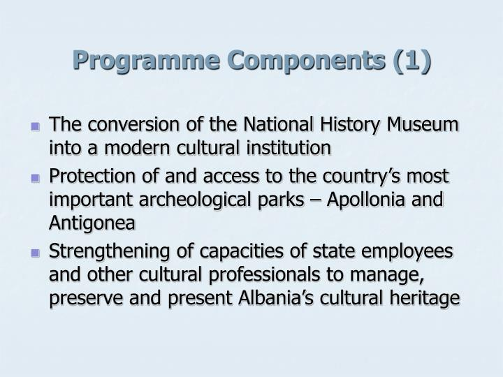 Programme components 1
