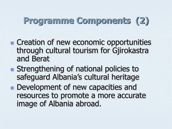 Programme Components  (2)