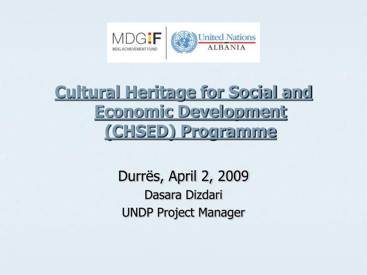 Cultural Heritage for Social and Economic Development