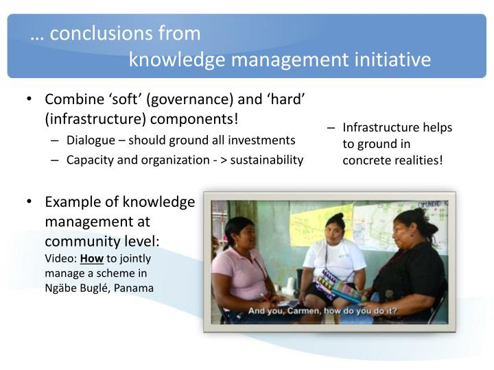 … conclusions from