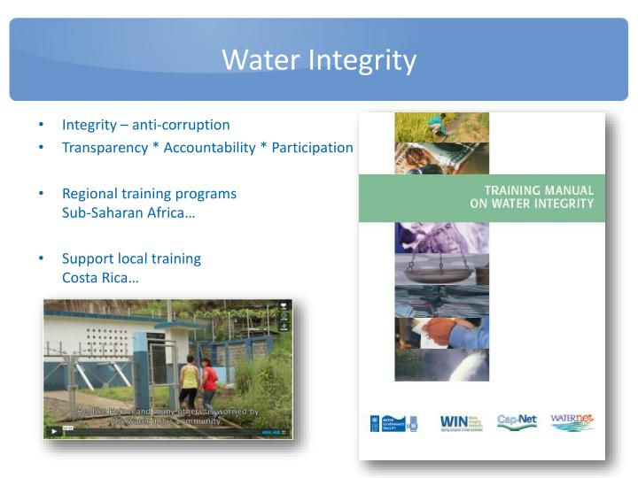 Water Integrity