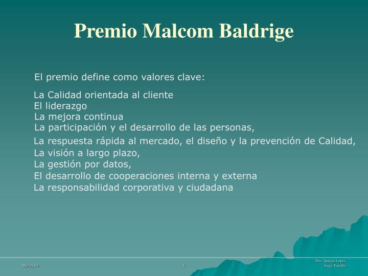 Premio Malcom Baldrige