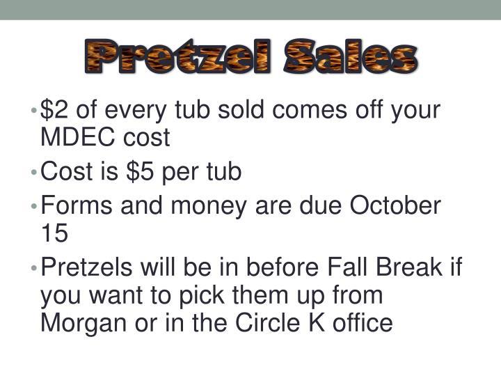 Pretzel Sales