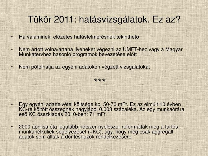 Tükör 2011: hatásvizsgálatok. Ez az?