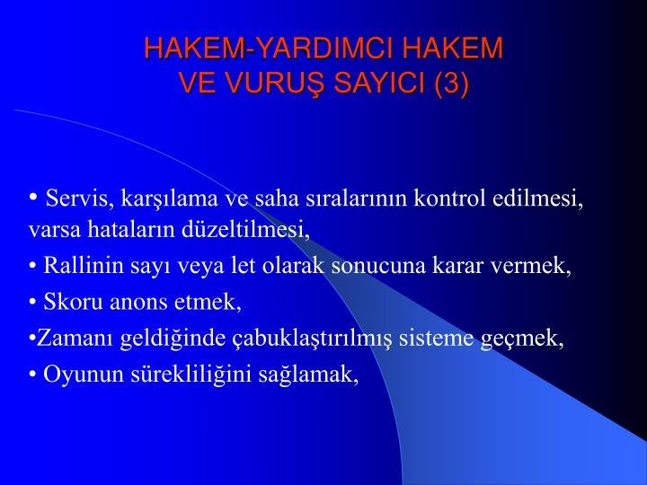HAKEM-YARDIMCI HAKEM
