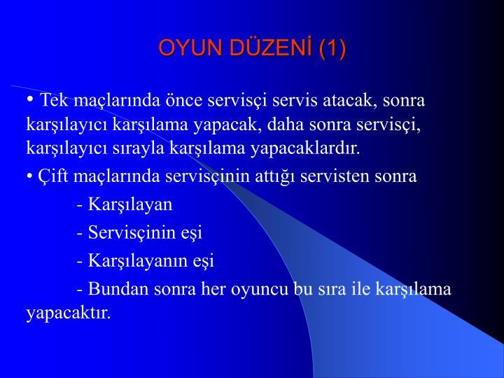 OYUN DÜZENİ (1)