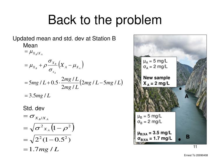 Back to the problem