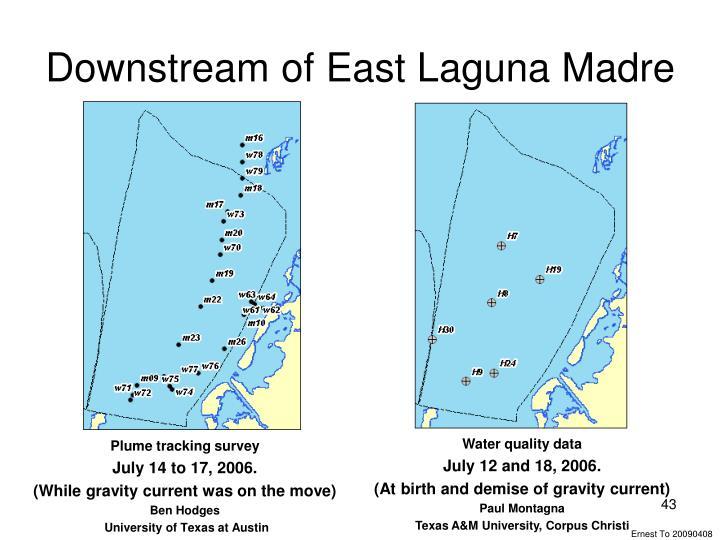 Downstream of East Laguna Madre