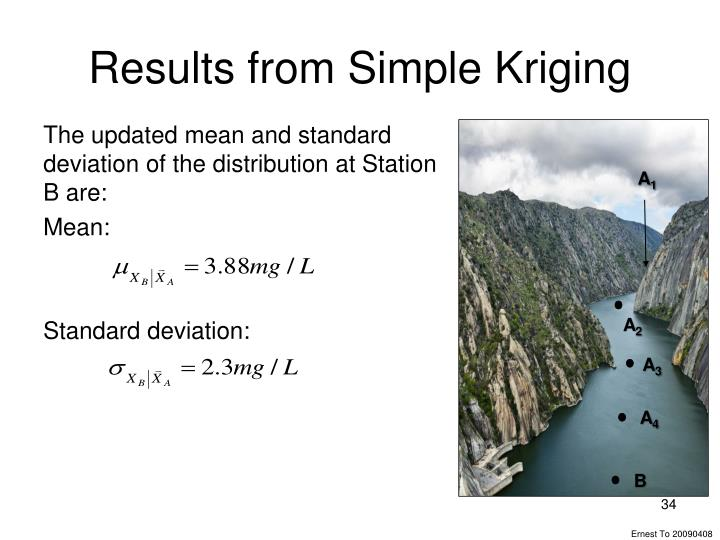 Results from Simple Kriging