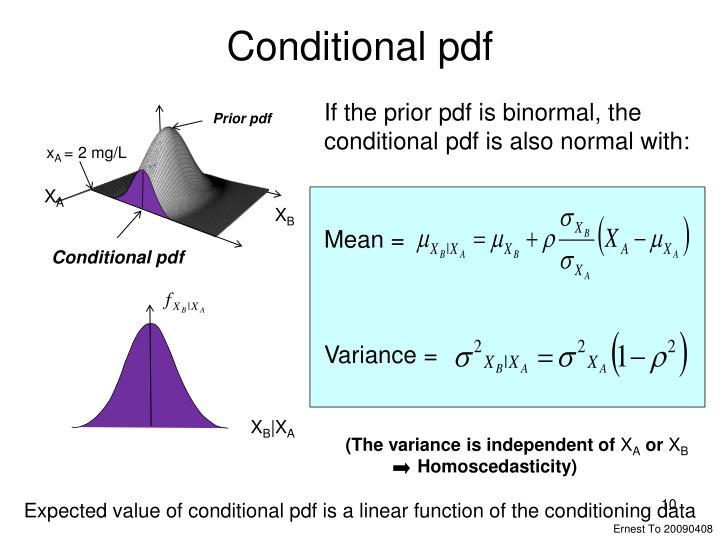 Conditional pdf