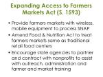 expanding access to farmers markets act s 1593