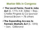 marker bills in congress