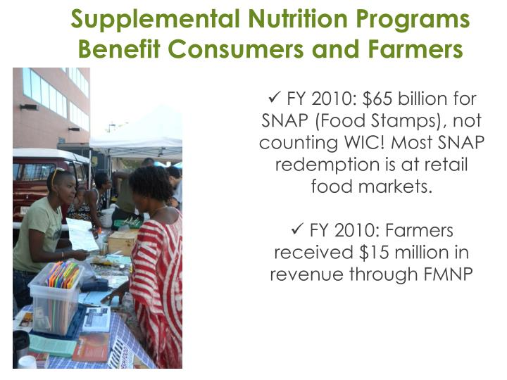 Supplemental Nutrition Programs Benefit Consumers and Farmers