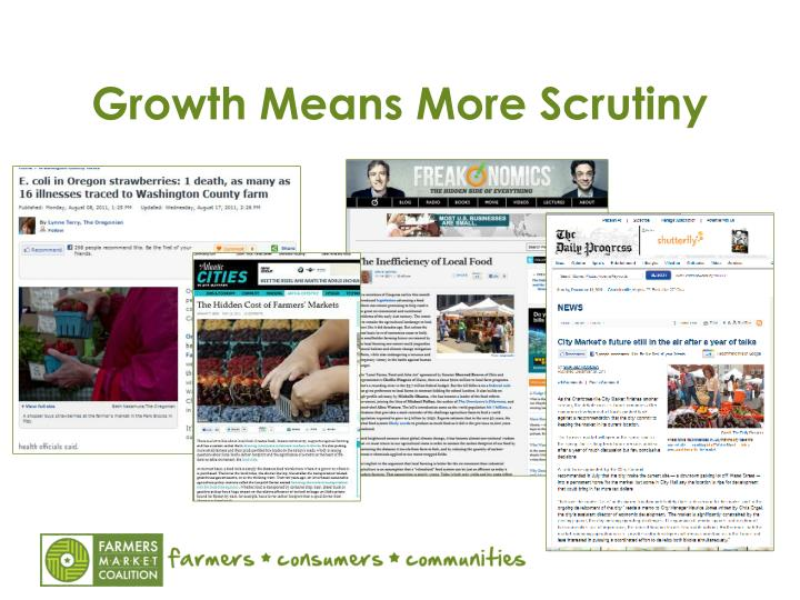 Growth Means More Scrutiny