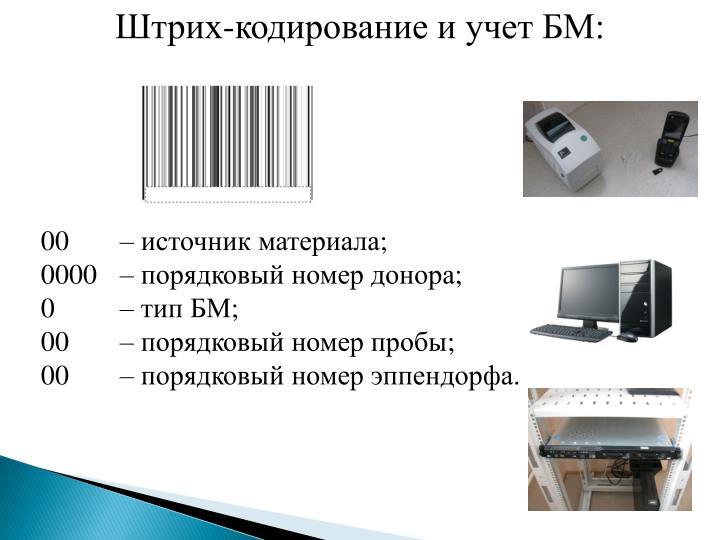 Штрих-кодирование и учет БМ:
