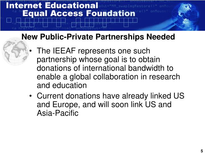 New Public-Private Partnerships Needed
