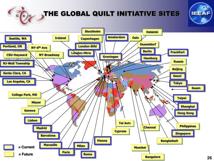 THE GLOBAL QUILT INITIATIVE SITES