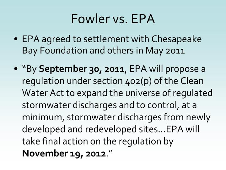 Fowler vs. EPA