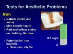 tests for aesthetic problems1