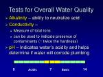 tests for overall water quality