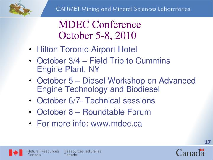 MDEC Conference