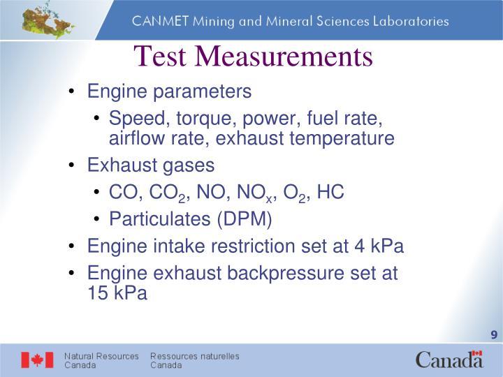 Test Measurements