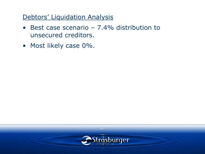 Debtors' Liquidation Analysis